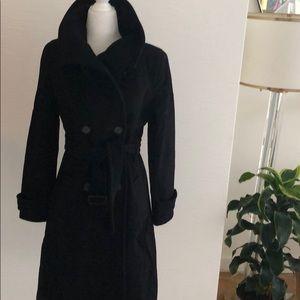 Marc New York Black Wool & Cashmere Coat